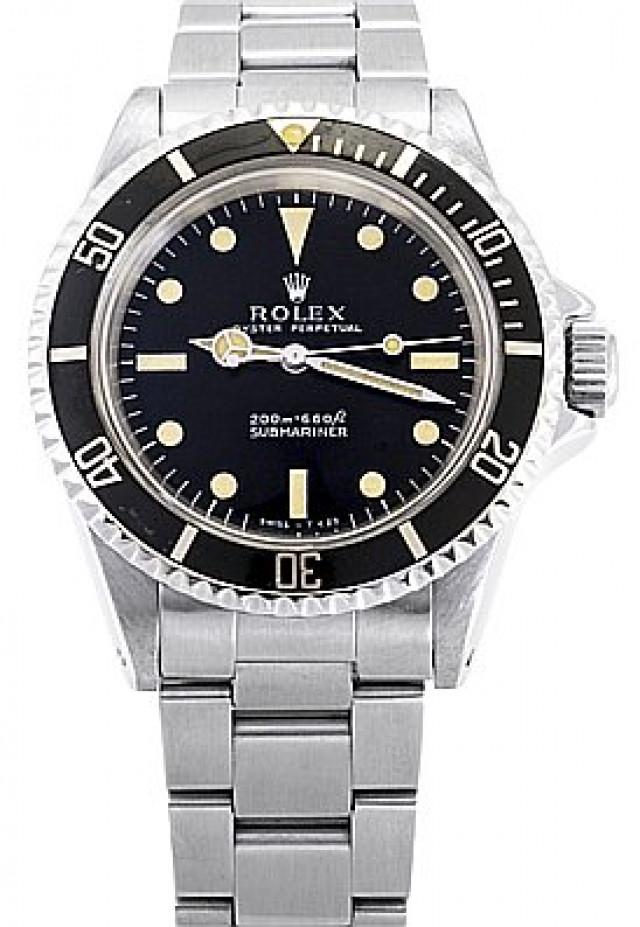 Rolex 5513 Steel on Oyster Black