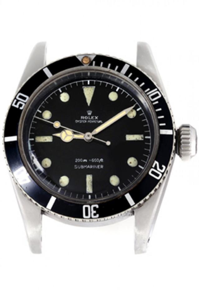 Rolex 6538 Steel No Bracelet on, Black Bezel Black