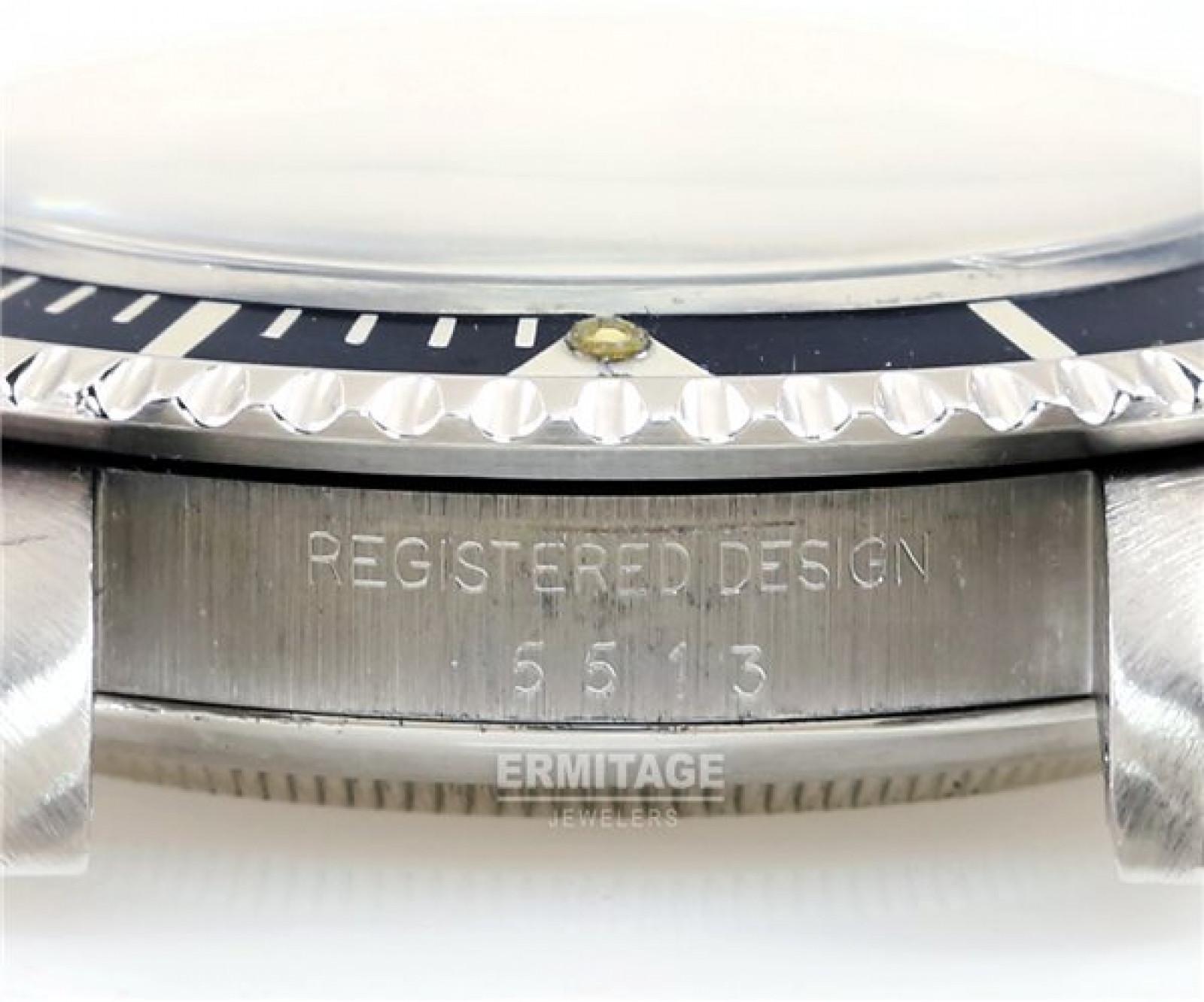 Vintage Rolex Submariner 5513 Steel with Black Dial 1979