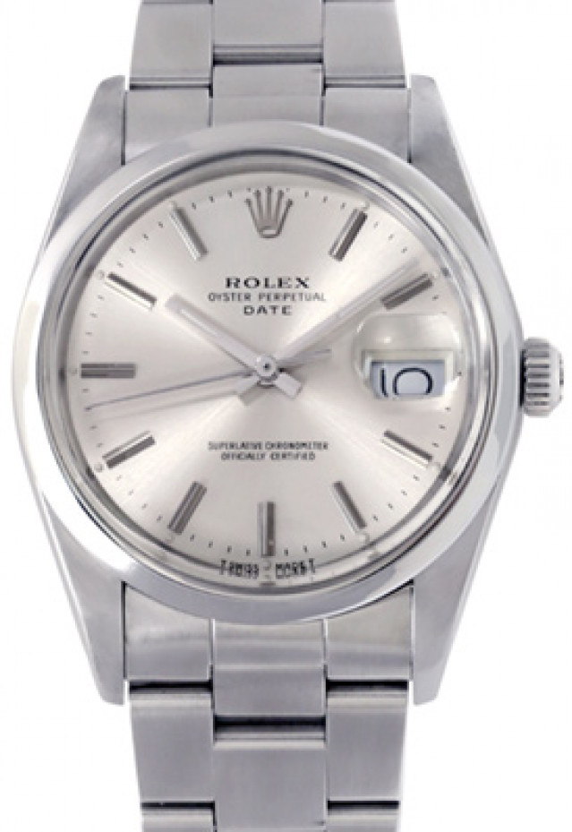 Rolex 15000 Steel on Oyster, Smooth Bezel Steel with Silver Index