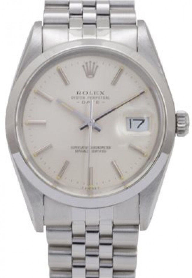 Rolex 15000 Steel on Jubilee, Smooth Bezel Steel with Silver Index