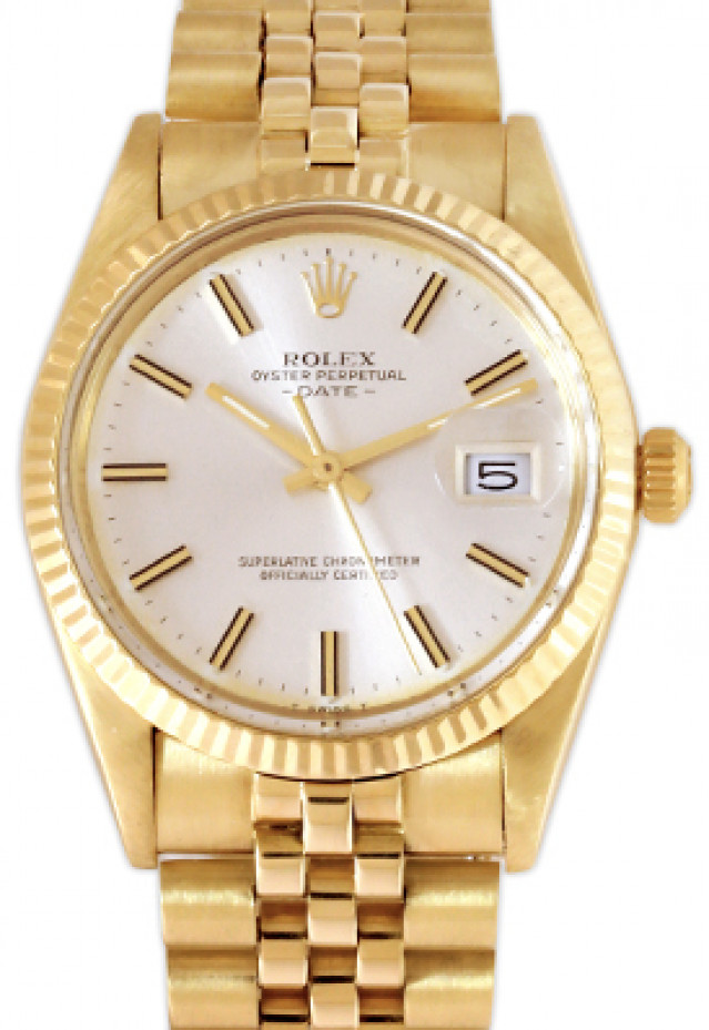 Rolex 15037 Yellow Gold on Jubilee, Fluted Bezel Steel with Gold Index