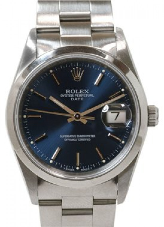 Rolex 15200 Steel on Oyster, Smooth Bezel Blue with Silver Index