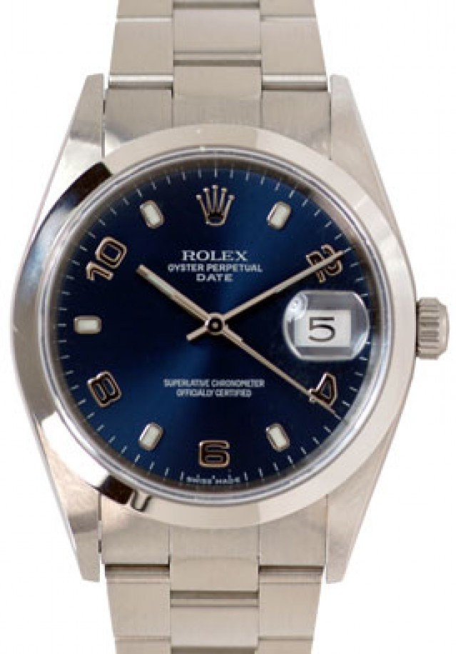 Rolex 15200 Steel on Oyster, Smooth Bezel Blue with Luminous Index & Silver Arabic 2-4-6-8-10
