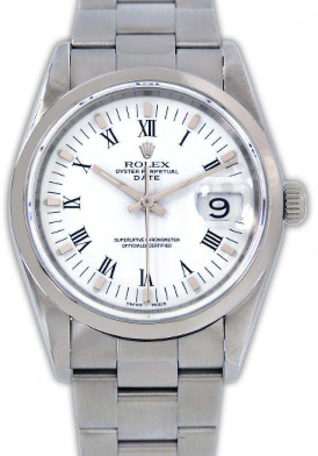 Rolex 15200 Steel on Oyster, Smooth Bezel White with Black Roman & Silver Index