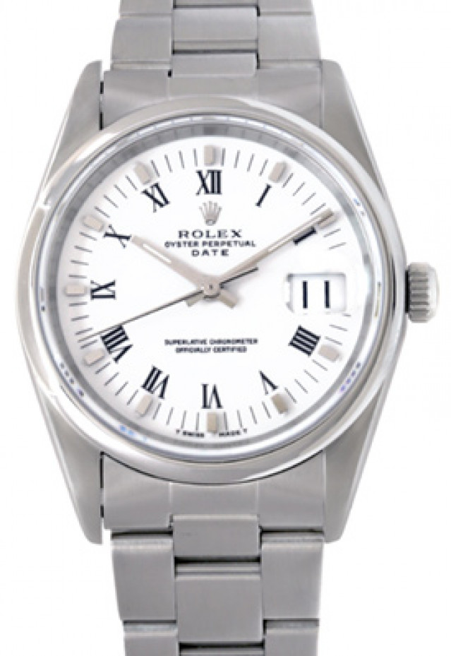 Rolex 15200 Steel on Oyster, Smooth Bezel White with Silver Index