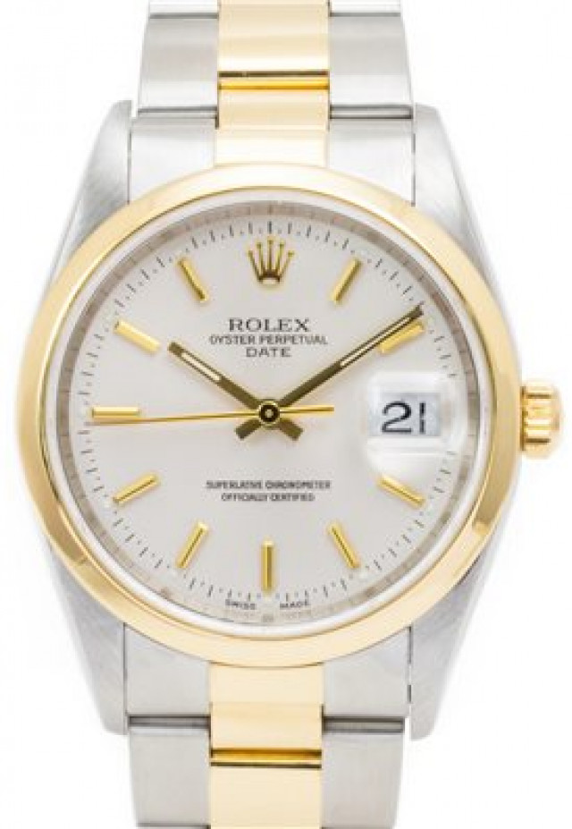 Rolex 15203 Yellow Gold & Steel on Oyster, Smooth Bezel Steel with Gold Index