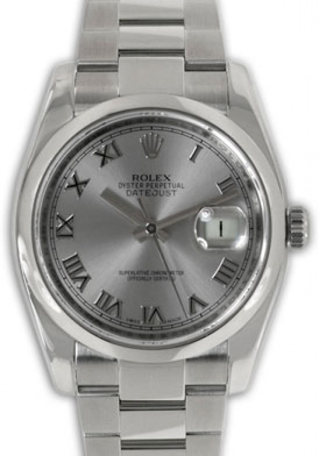 Rolex 116200 Steel on Oyster, Smooth Bezel Steel with Silver Roman