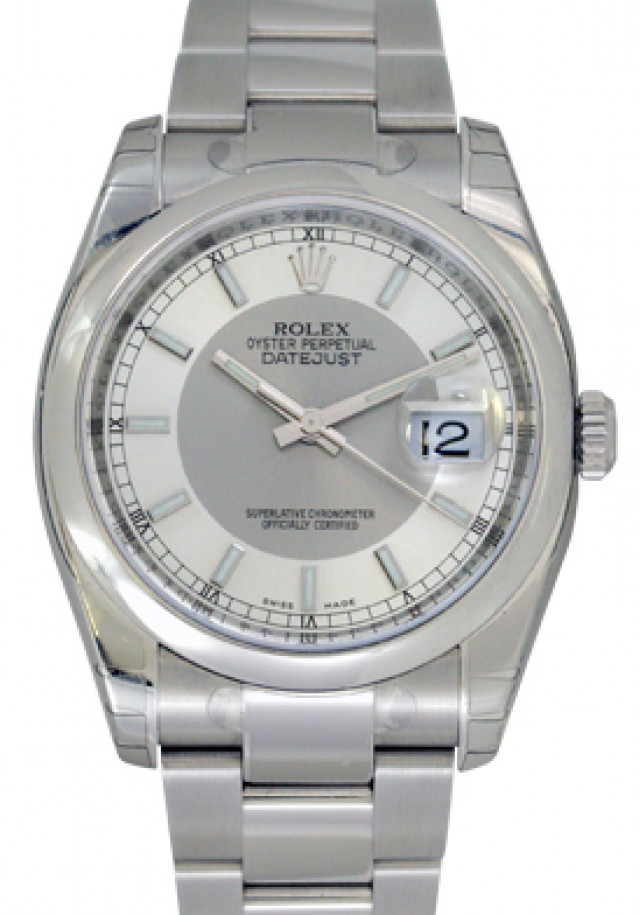 Rolex 116200 Steel on Oyster, Smooth Bezel Steel with Luminous Index
