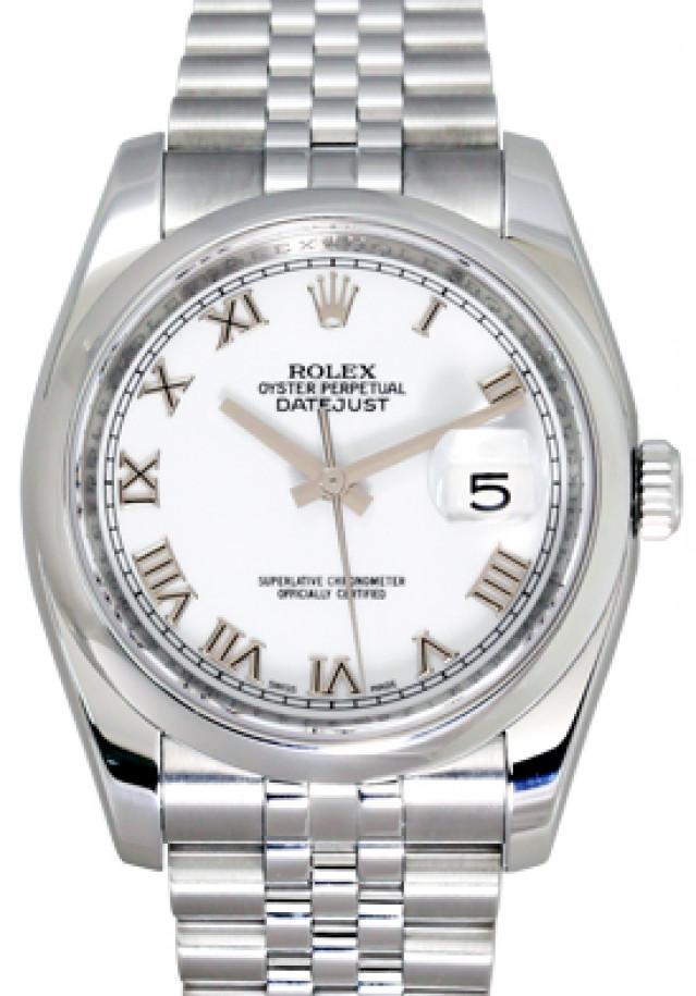 Rolex 116200 Steel on Jubilee, Smooth Bezel White with Silver Roman