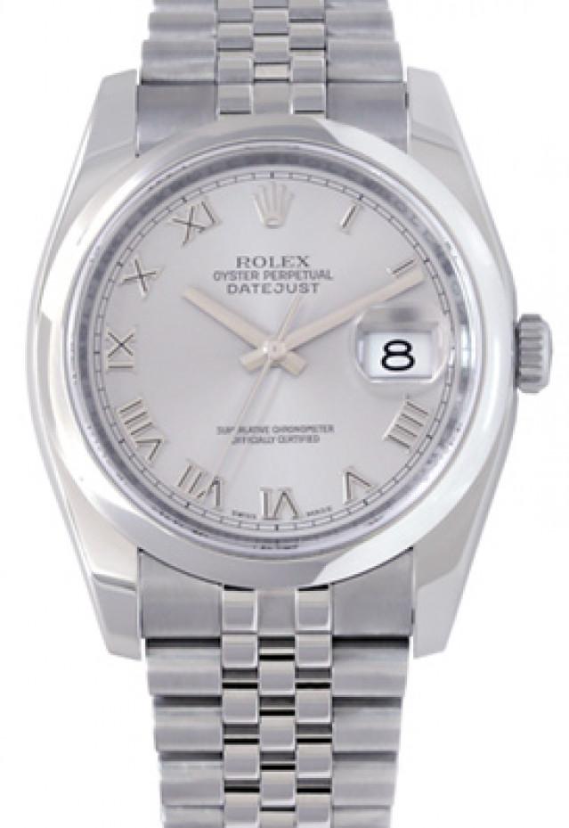 Rolex 116200 Steel on Jubilee, Smooth Bezel Steel with Silver Roman