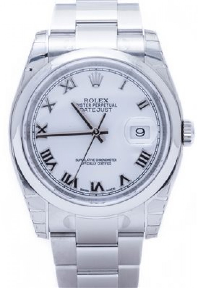 Rolex 116200 Steel on Oyster, Smooth Bezel White with Silver Roman