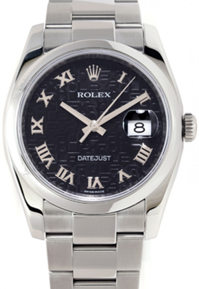 Rolex 116200 Steel on Oyster, Smooth Bezel Black with Silver Roman