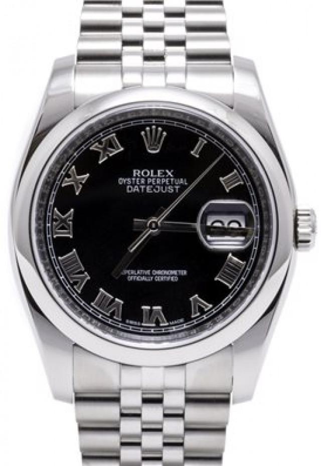 Rolex 116200 Steel on Jubilee, Smooth Bezel Black with Silver Roman