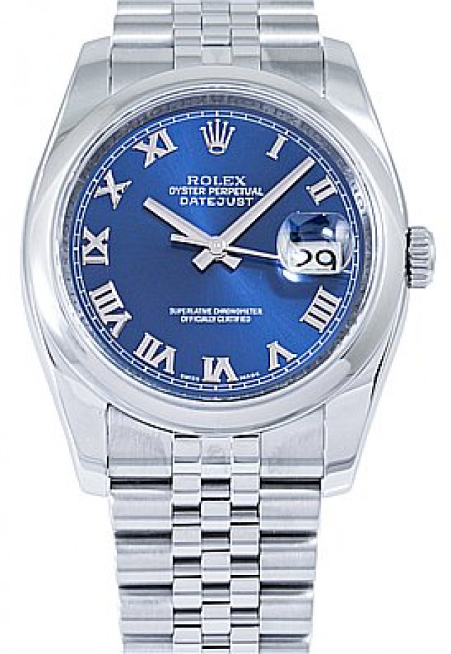 Rolex 116200 Steel on Oyster, Smooth Bezel Blue with Silver Roman