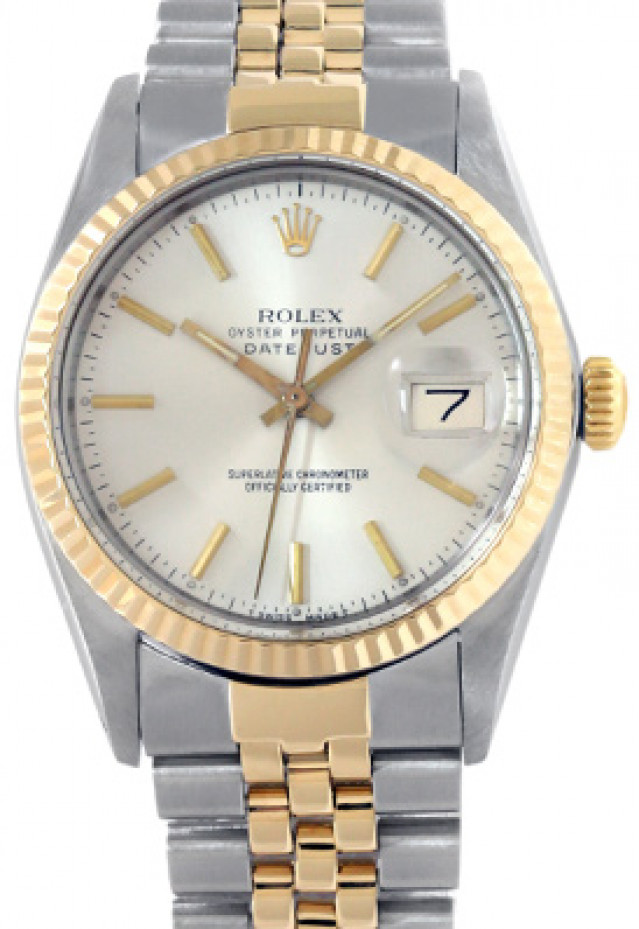 Rolex 16013 Yellow Gold & Steel on Jubilee, Fluted Bezel Steel with Gold Index