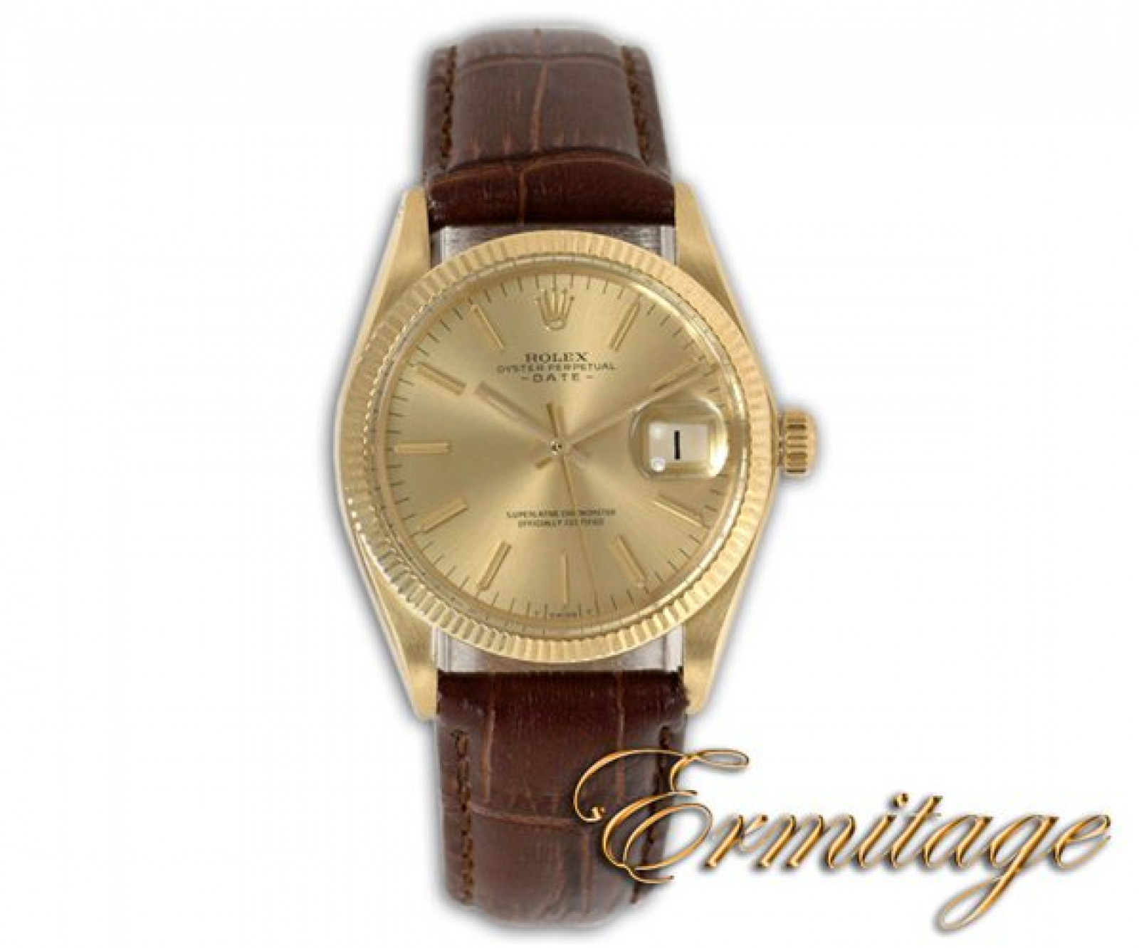 Vintage Rolex Date 1503 Gold Year Circa 1970