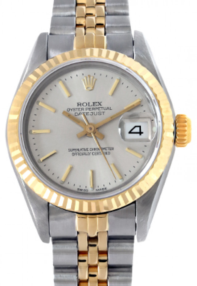 Rolex 69173 Yellow Gold & Steel on Jubilee, Fluted Bezel Steel with Gold Index