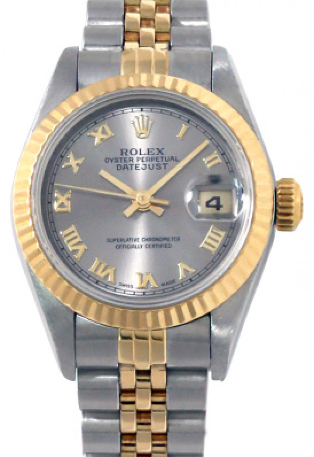 Rolex 69173 Yellow Gold & Steel on Jubilee, Fluted Bezel Steel with Gold Roman