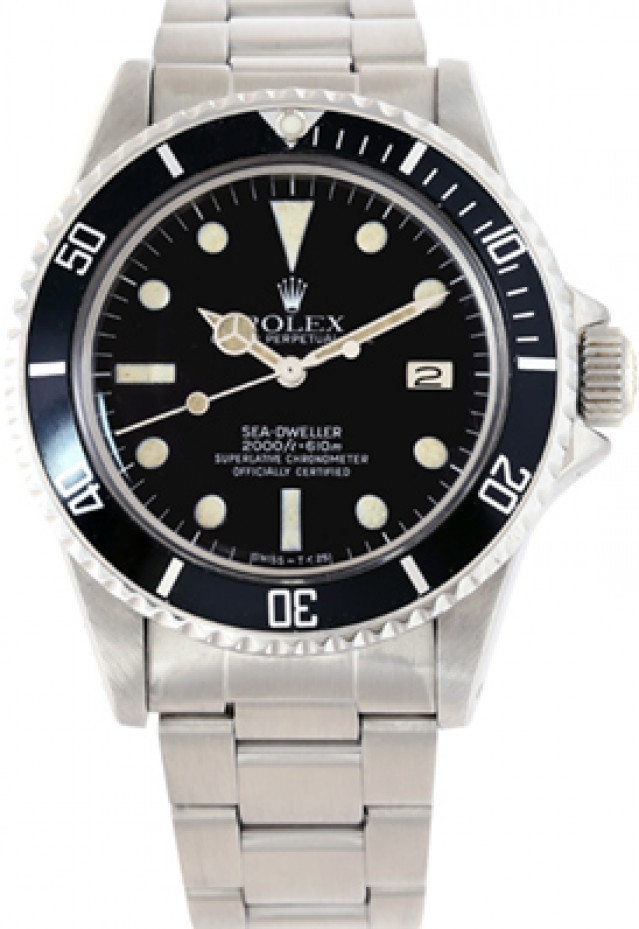 Rolex 1665 Steel on Oyster Black Double Red, Mark IV