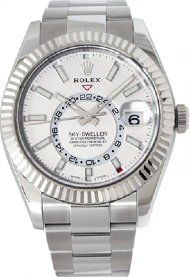 Rolex 326934 White Gold & Steel on Oyster Silver with Luminous Index