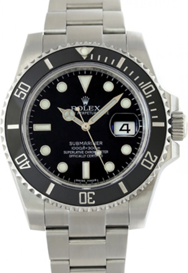 2017 Black Rolex Submariner Ref. 116610