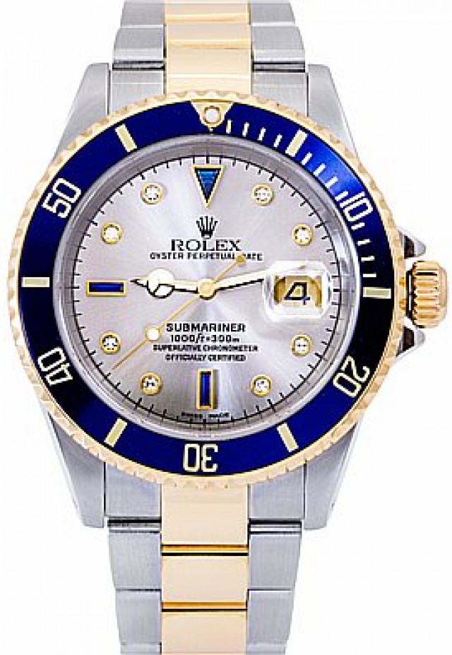 Rolex 16613 Yellow Gold & Steel on Oyster, Blue Slate Diamond Dial