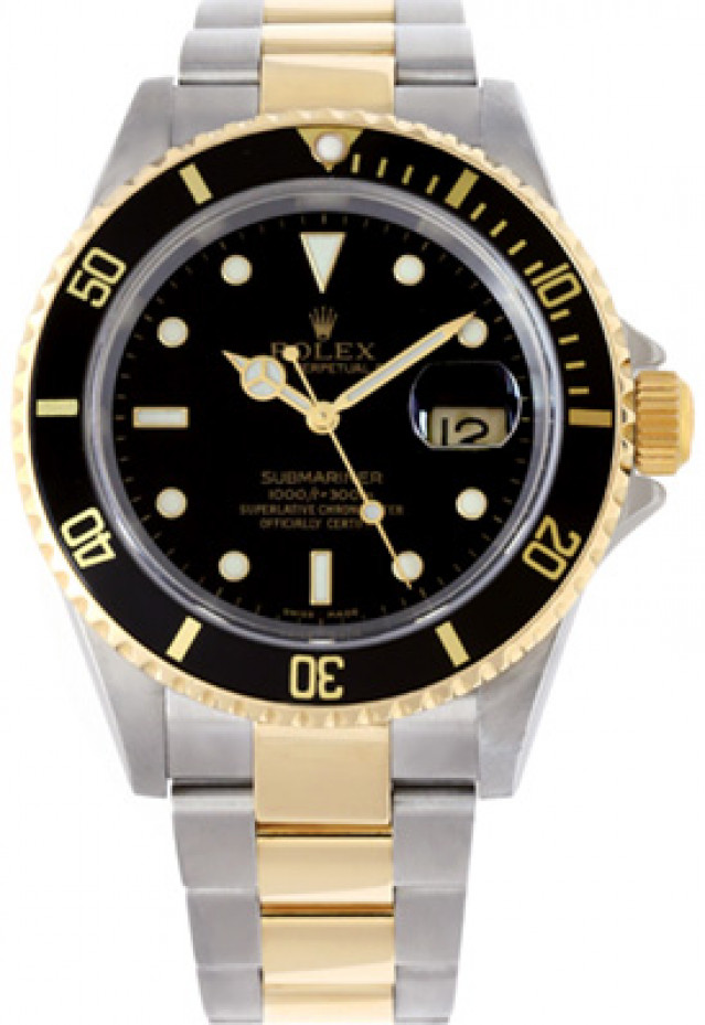 Rolex 16613 Yellow Gold & Steel on Oyster Black