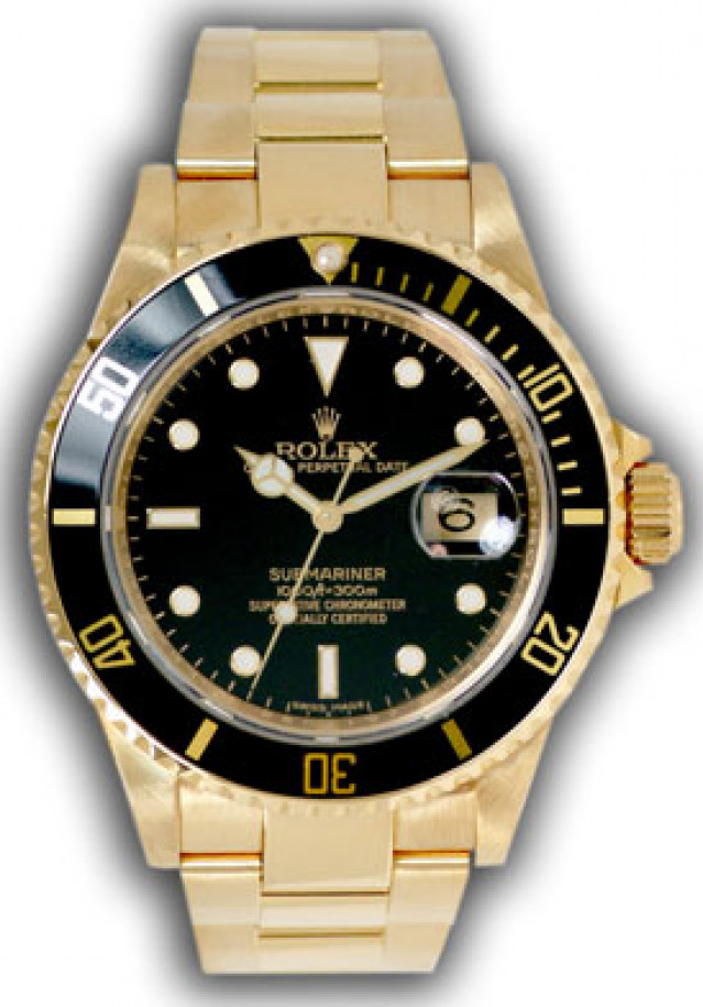 Rolex 16618 Yellow Gold on Oyster Black