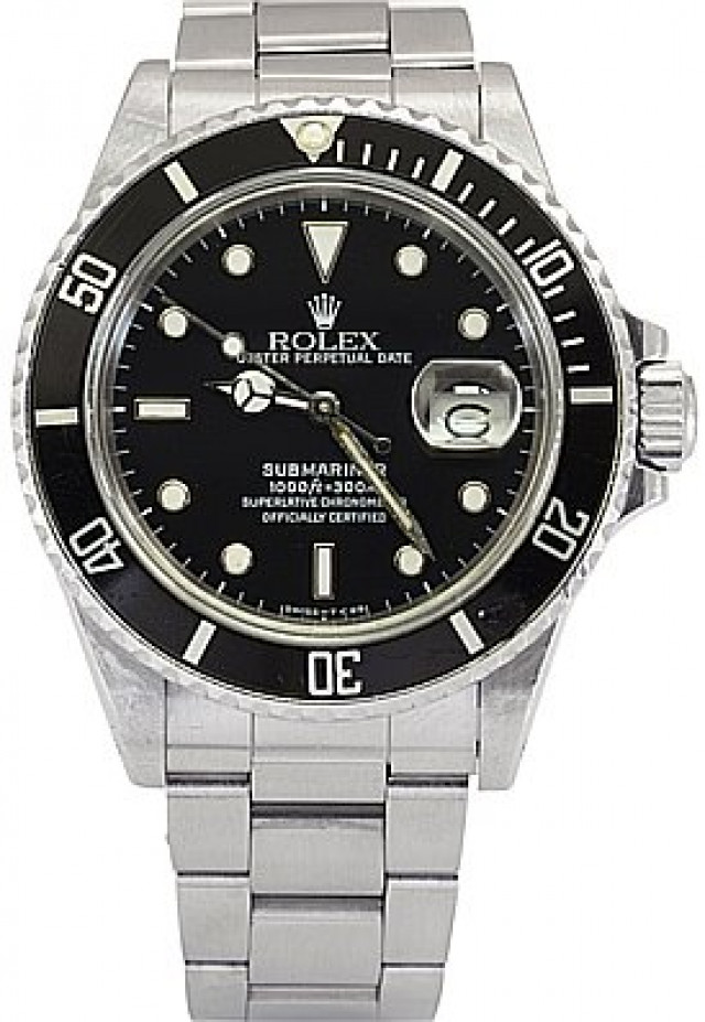 Rolex Submariner Ref. 168000 Never Been Polished Condition
