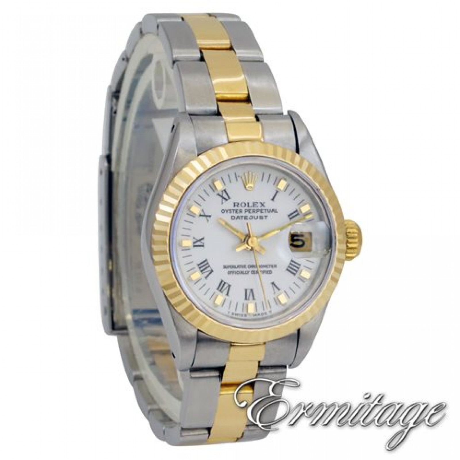 Pre-Owned Rolex Datejust 69173 Gold & Steel with White Dial