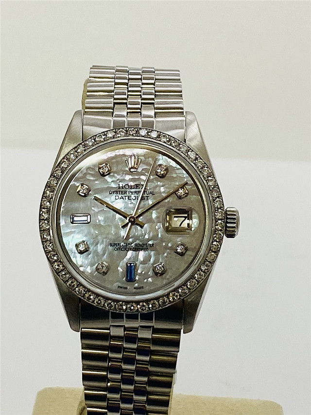 Diamond Rolex Datejust 16030 Two Tone
