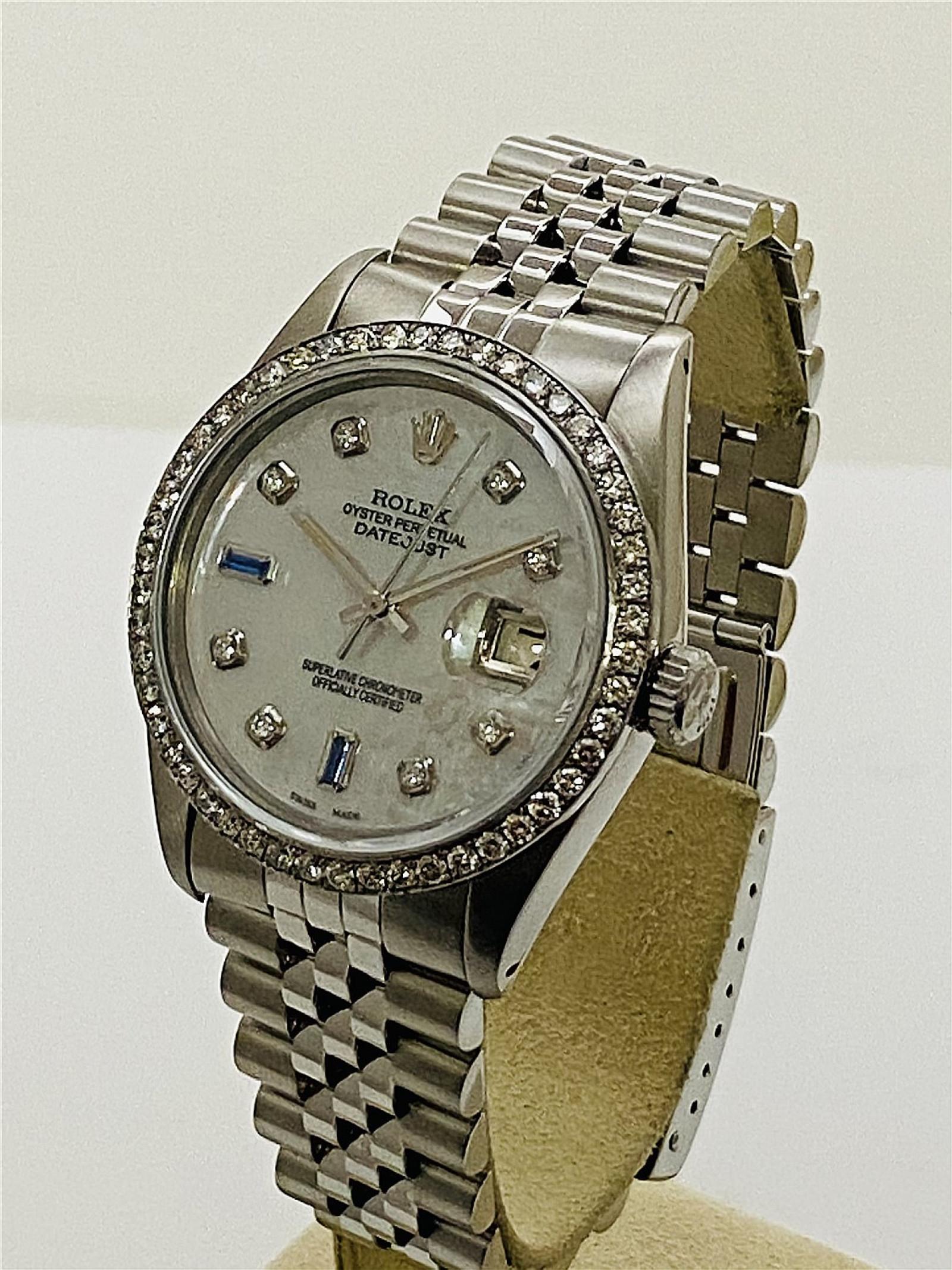 Diamond Rolex Datejust 16030 Two Tone