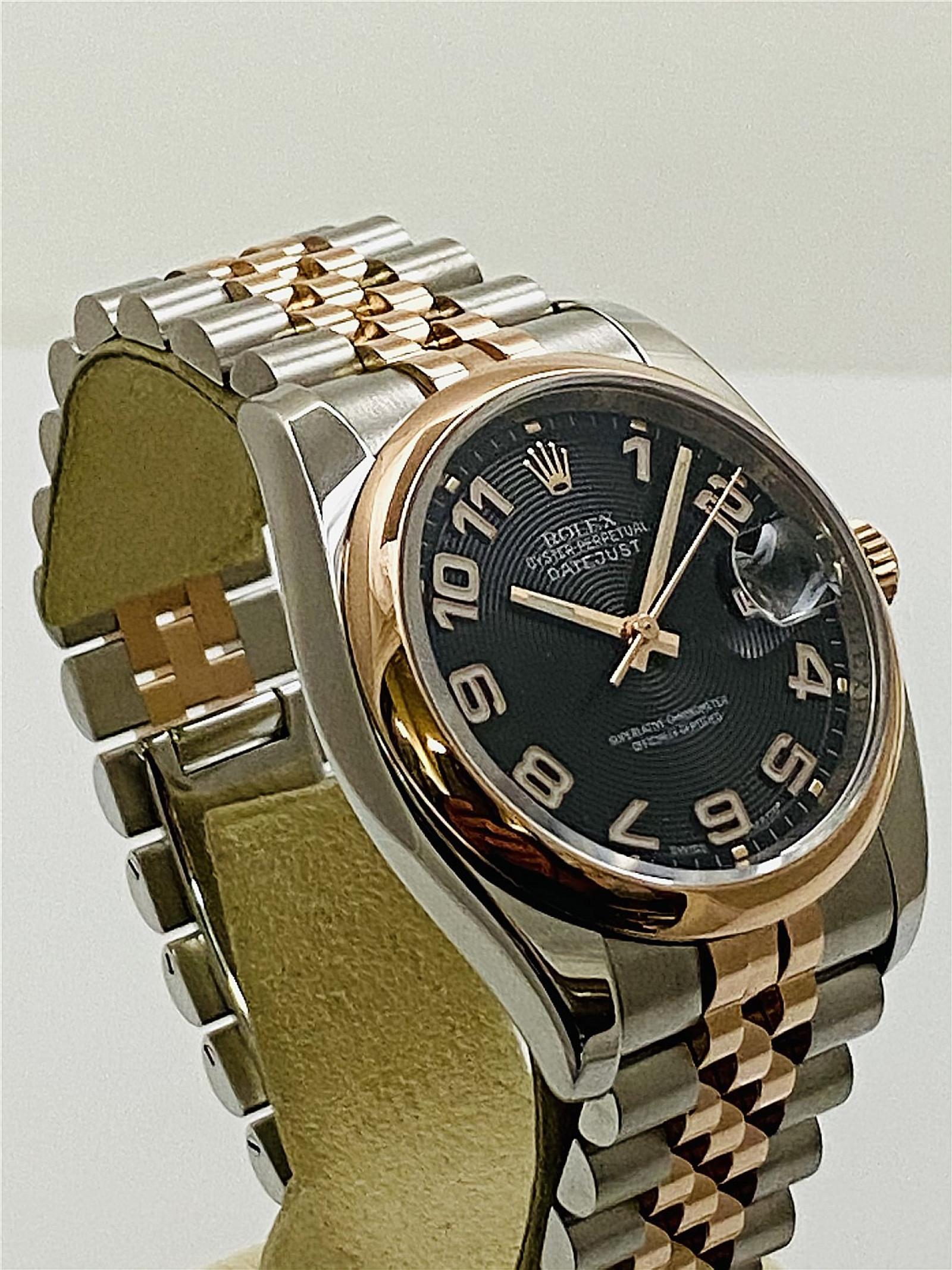 Rose Gold Rolex Datejust 116201
