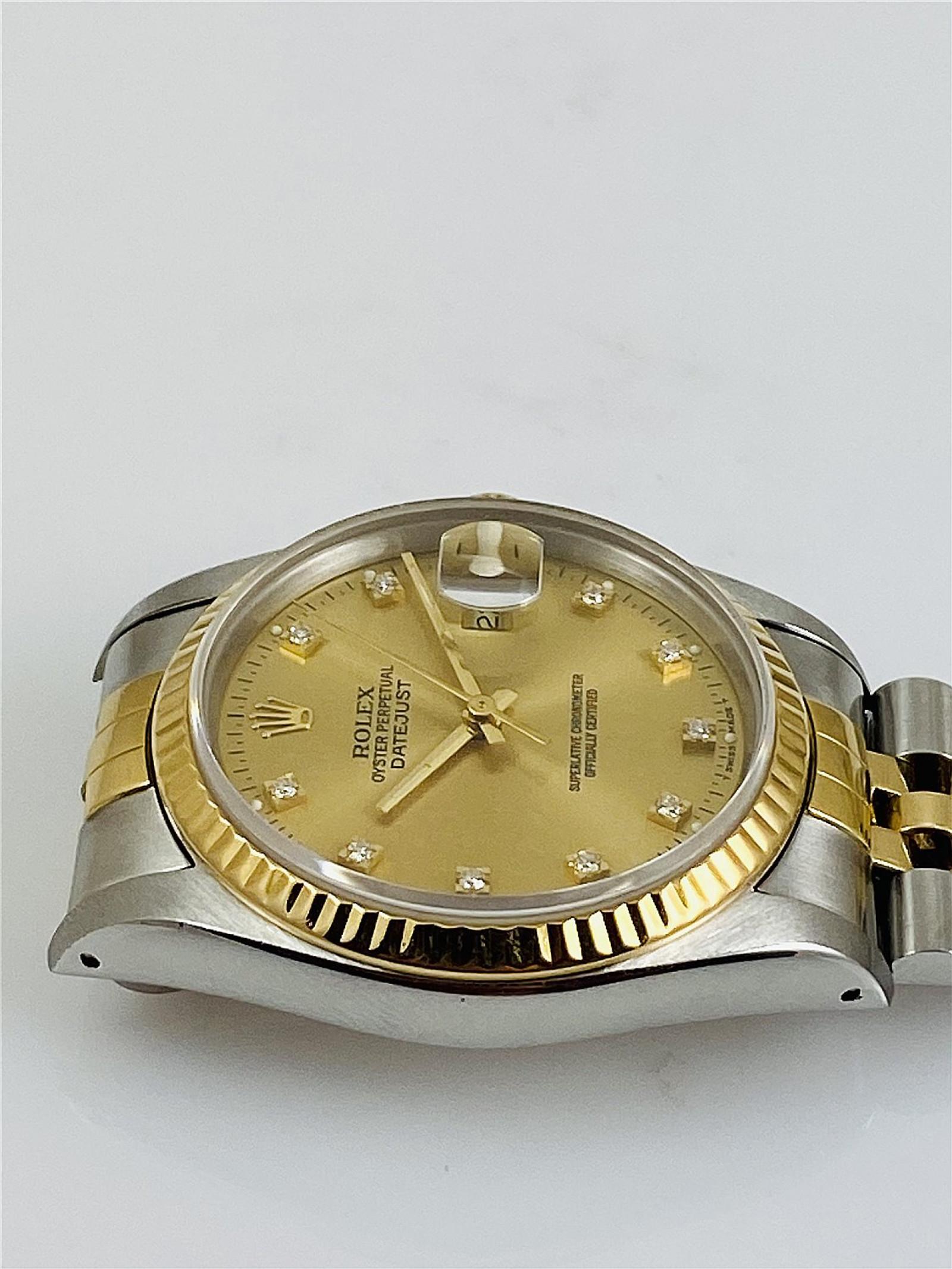 Diamond Rolex Datejust 16233 with Jubilee Bracelet