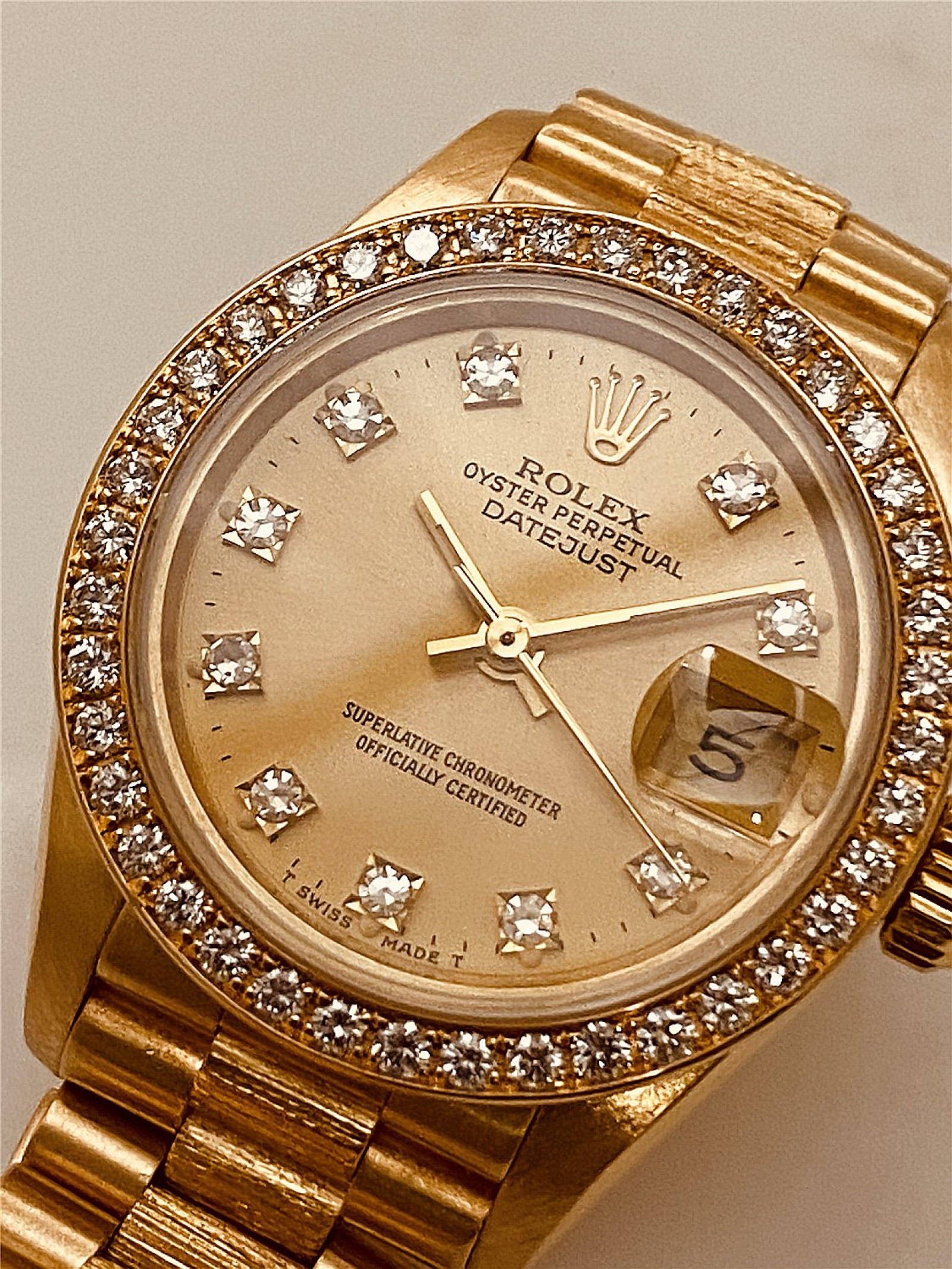 Diamond Rolex Datejust 69278 President for Women