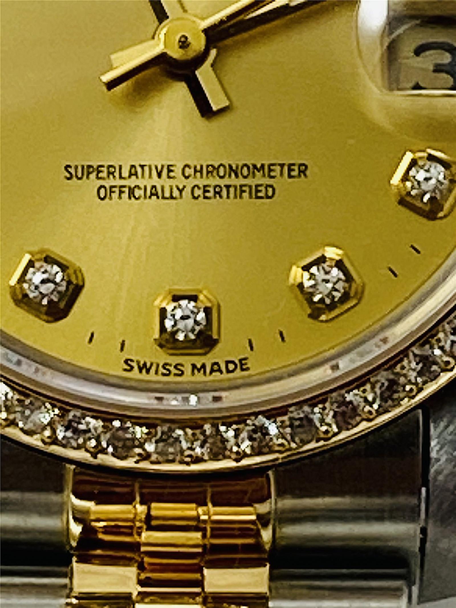 Diamond Rolex Datejust 68273 Two Tone