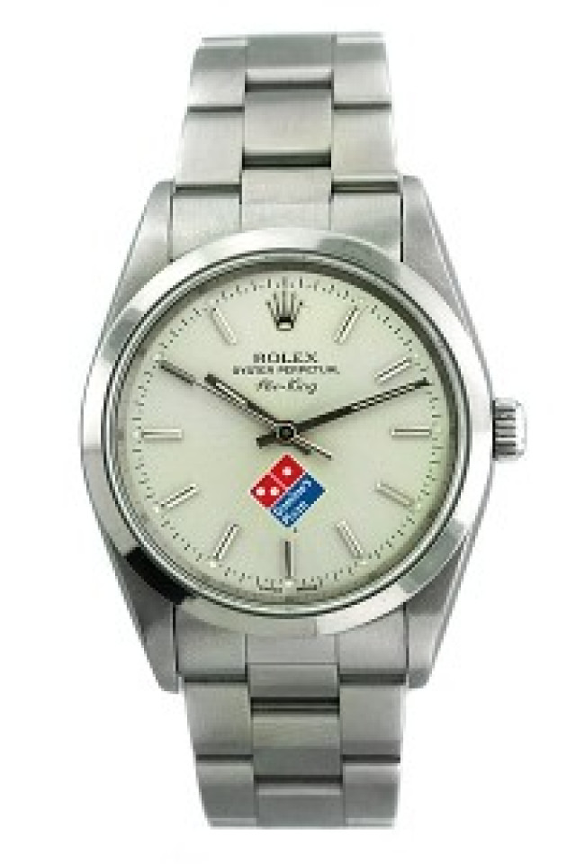Pre-Owned Rolex Air King 14000 with White Domino's Pizza Dial