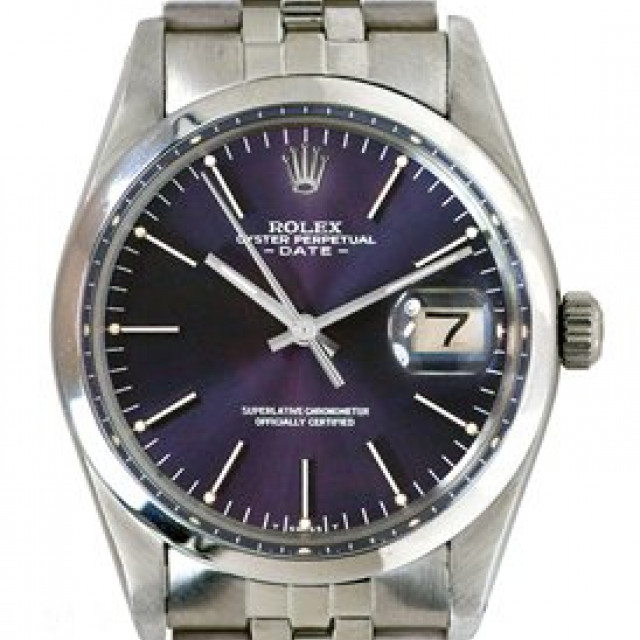 Rolex 15000 Steel on Jubilee, Smooth Bezel Purple with Silver Index