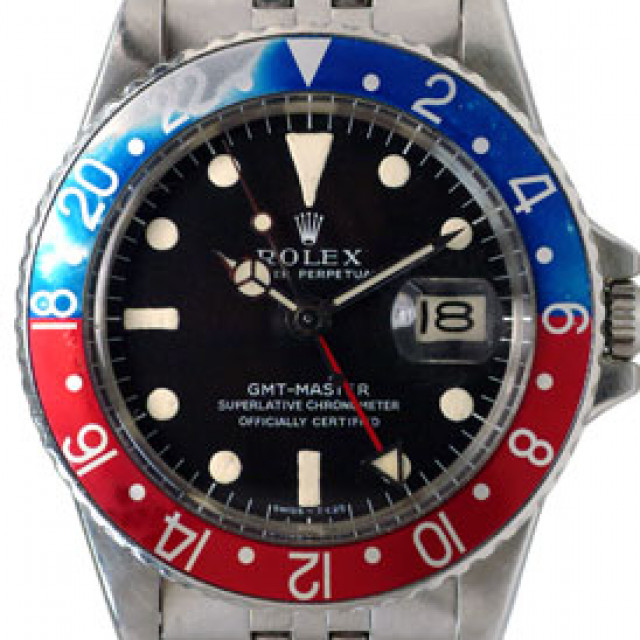 Vintage Rolex GMT-Master 1675 Steel Year 1966 with Black Dial