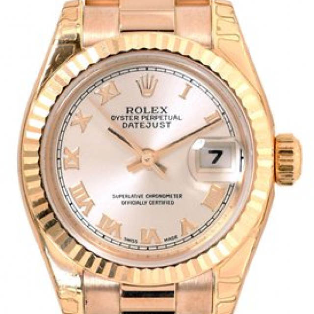 Rolex Datejust 179175 Rose Gold with Rose Dial & Roman Markers