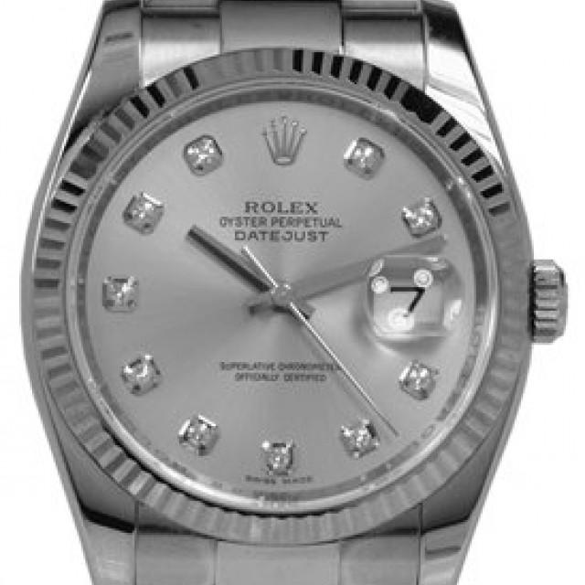 Silver Diamond Dial Rolex Datejust 116234