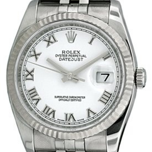 Rolex Datejust 116234 Steel with White Dial & Roman Markers