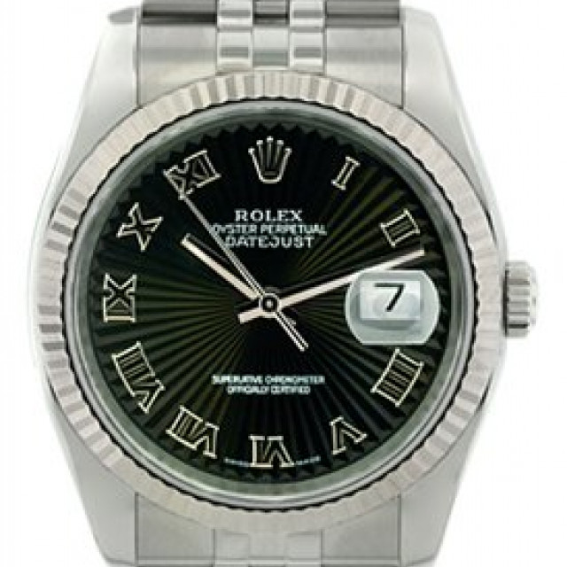 Rolex Datejust 116234 Steel with Black Dial & Roman Markers