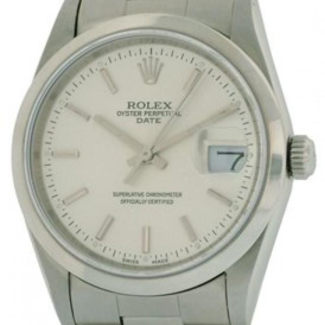 Rolex Date 15200 Steel Silver Dial 2000