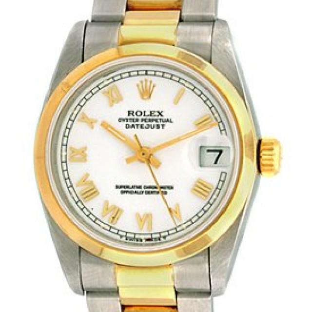 Rolex Datejust 68243 Gold & Steel White