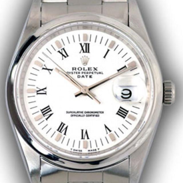 Rolex Date 15200 Steel White 1997