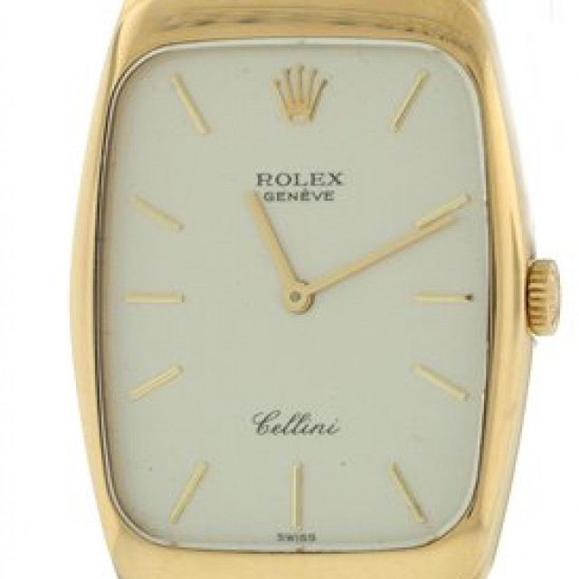 Vintage Rolex Cellini 4136 Gold with Silver Dial