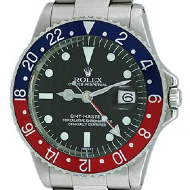 Vintage Rolex GMT-Master 1675 Steel Year 1969 with Black Dial 1969