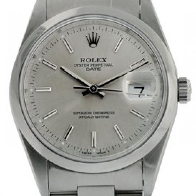 Rolex Date 15200 Steel Silver Dial 1997
